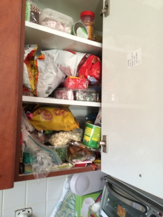 snack cabinet before